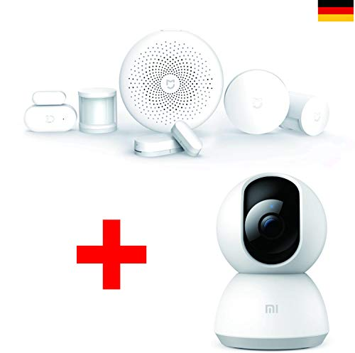 (Xiaomi Security Pack Basic) Xiaomi Mi Smart Sensor Security Set + Mi Home Security Camera 360° 1080P Color Blanco