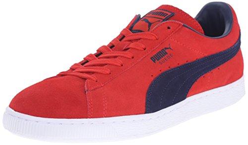 Puma Suede Classic Mesh FS Daim Baskets Flame Scarlet-Peacoat