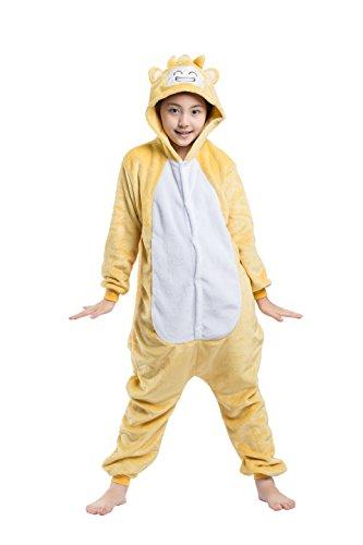 ens Tier Pyjamas Onesies - Mädchen Junge Homewear Sleepsuit Cosplay Kostüm Männlich Affe 120(Vorschlagen Höhe 114-122cm) (118 Kostüm Männlich)