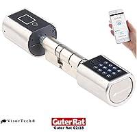 VisorTech Türschloss: Elektronischer Tür-Schließzylinder mit Zahlencode und Bluetooth (Smart Lock)