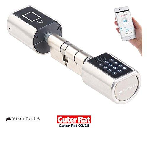VisorTech Codeschloss: Elektronischer Tür-Schließzylinder mit Zahlencode und Bluetooth (Zylinderschloss)