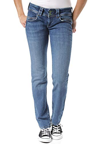 Pepe Jeans Damen Jeans Venus Blue Denim 31 32