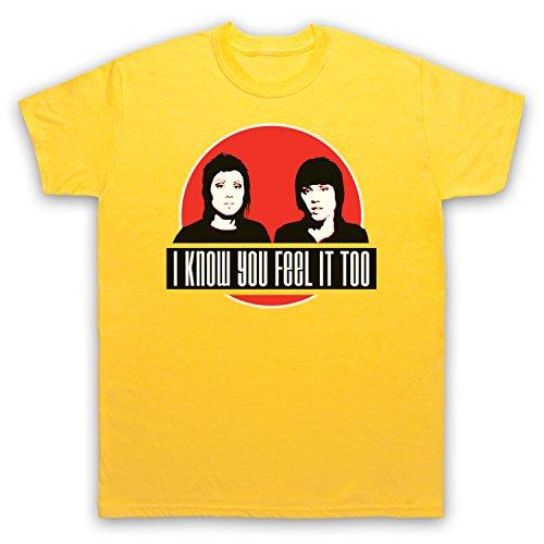 Inspiriert durch Tegan & Sara Hell Unofficial Herren T-Shirt Gelb