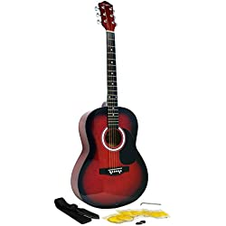 Martin Smith W-100-RD-PK Guitarra acústica - color rojo
