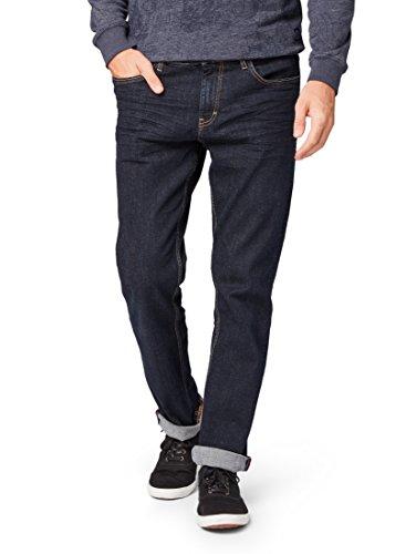 TOM TAILOR für Männer Jeanshosen Marvin Straight Jeans Rinsed Blue Denim, 32/32