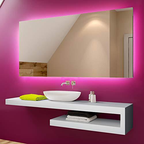 Foram personalizza controluce led specchio - su misura - con interruttore e accessori caldo - freddo bianco l58