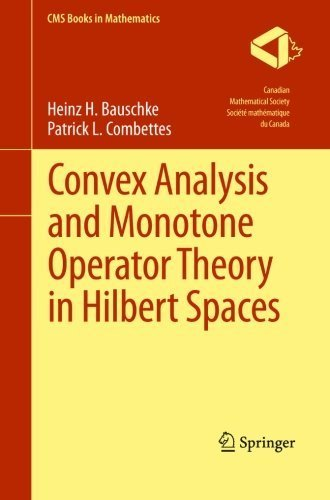Convex Analysis and Monotone Operator Theory in Hilbert Spaces (CMS Books in Mathematics) by Heinz H. Bauschke (2013-05-28)