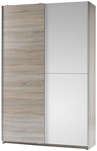 BEGA 70-040-68 Schrank, Holz, braun / weiß, 38 x 125 x 195 cm