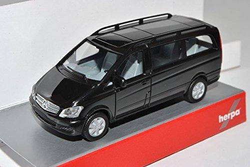 Mercedes-Benz Viano Personen Transporter Schwarz Facelift W639 Ab 2010 H0 1/87 Herpa Modell Auto mit individiuellem Wunschkennzeichen