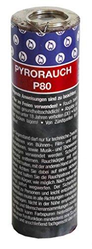 PYROWEB.DE Pyrorauch P80 rot mit Reißzündung