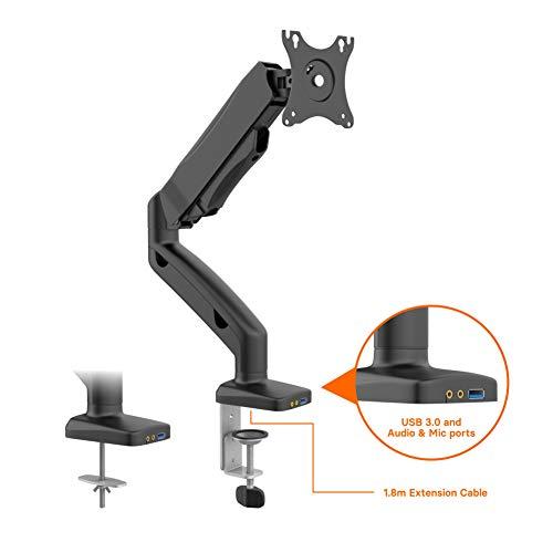 1home Monitor Tischhalterung - Monitorhalteurng Gasgestützte Arm mit Klemme für 13