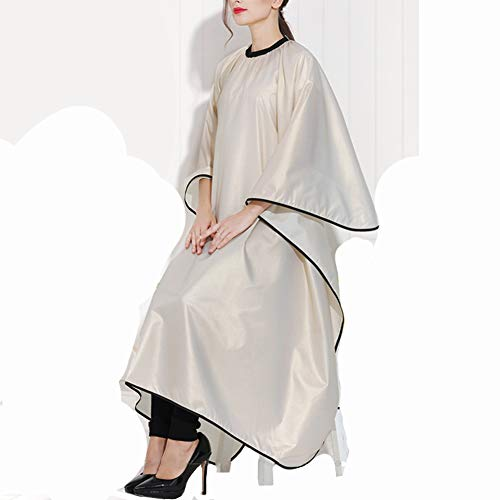 RIAWB Koreanischen Stil Importierten Hochwertigen Friseur Cape Haircutting Kleid Wasserdicht, Antistatische Färben Salon Schürze Für Haar Styling 160 * 144 cm,Gold - Haar-farbe, Fleck