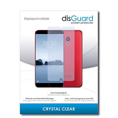 disGuard® Bildschirmschutzfolie [Crystal Clear] kompatibel mit Meizu 15 Lite [2 Stück] Kristallklar, Transparent, Unsichtbar, Extrem Kratzfest, Anti-Fingerabdruck - Panzerglas Folie, Schutzfolie