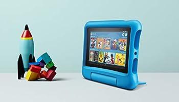 Fire?7 Kids Edition-Tablet, 7-Zoll-Display, 16?GB, blaue kindgerechte Hülle