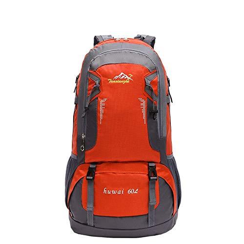 WMYQQLX Rucksack Rucksack aus Tür 60L Rucksäcke Unisex große Kapazität große Reisetasche Trekking Casual Rucksack Taschen für männlich weiblich, orange - 1067 Ziehen