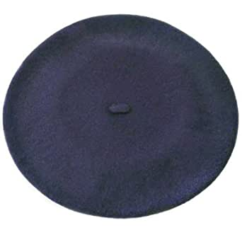 Plain Beret Hat 100% Wool French Beret Winter Autumn Women | Girls Fashion Hats (Navy)