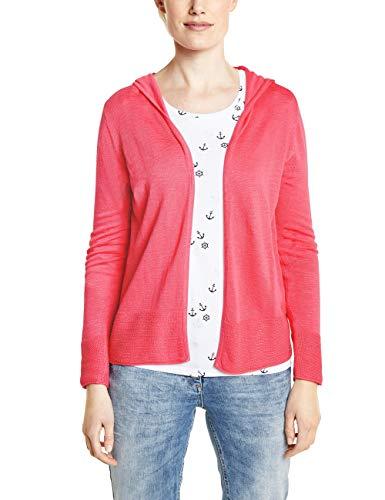 Cecil Damen 252843 Strickjacke, neo Coralline red, Small (Herstellergröße:S) -