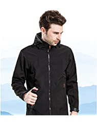 XLHGG Vêtements d'extérieur furuan coquille hommes de simple couche mince Andes molleton chaud et coupe-vent veste hiver