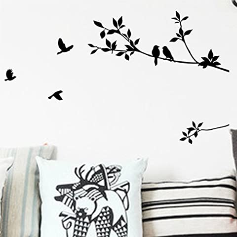 DIY Baum und Vogel Removable Decor Wandtattoo Wandsticker Wanddeko Aufkleber Wand Tattoo Wall Stickers