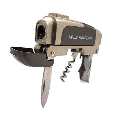 Feuerzeug multifunktional Sturmfeuerzeug Korkenzieher Messer Deckelöffner