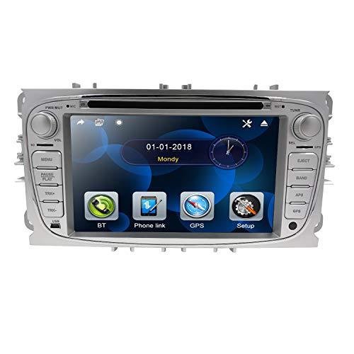 Hizpo 7 Pulgadas Autoradio Pantalla táctil Automóvil Reproductor de DVD Bluetooth SD...