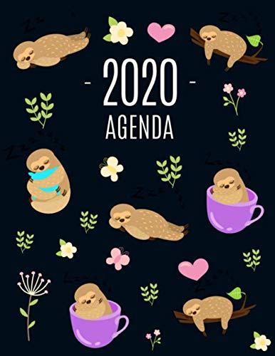 Pereza Agenda 2020: Planificador Annual | Enero a Diciembre 2020 | Ideal Para la Escuela, el Estudio y la Oficina