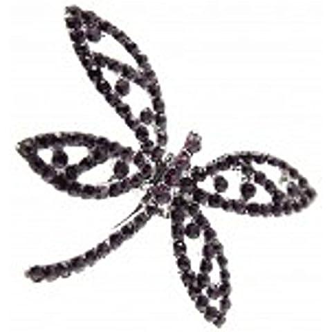 Viola da matrimonio a forma di libellula, con spilla