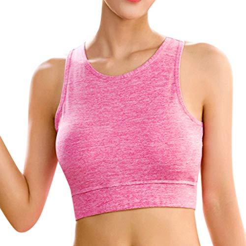 Damen Frauen Sport Crop Top LikecrazySommer Kurz Top unterhemd Trägershirts Damenmode Ärmellose Yoga BH Rücken Sport Bustier Jogging Fitness BH Top -