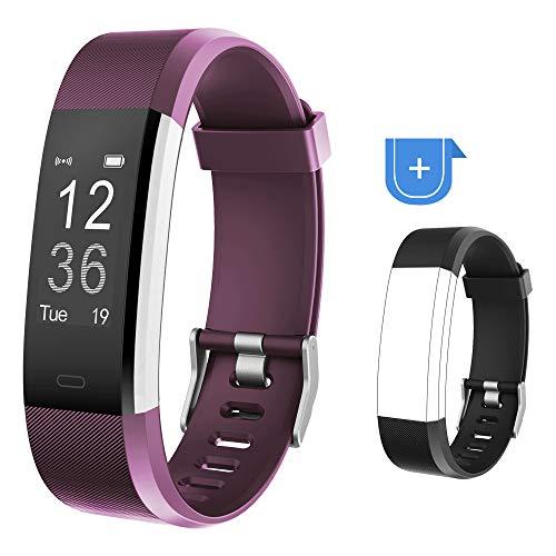 Willful Fitness Armband,Fitness Uhr Wasserdicht IP67 Smartwatch Fitness Tracker Pulsuhr Schrittzähler Uhr Damen Herren Aktivitätstracker mit Ersatzband Vibrationsalarm Anruf SMS für iOS Android Handy (Android Fitness-tracker Uhr)