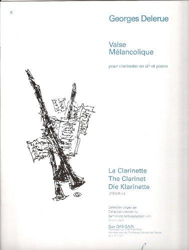 Valse mélancolique : Pour clarinette en...