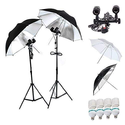 Vier E27 Socket Halter Dauerlicht 4x85w E27 5500k Professionelle Photograpy Studio Light Stand Umbrella 32