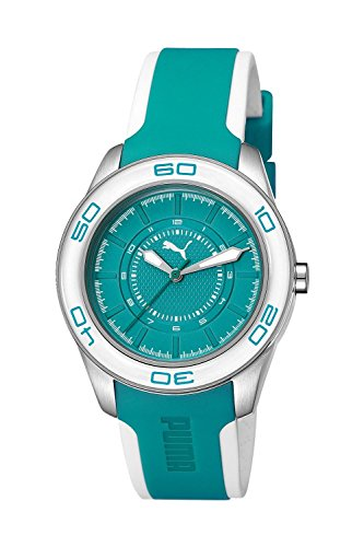 Puma Time Women's Quartz Watch with Green Dial Analogue Display and Plastic Multicolour - A.PU103032004