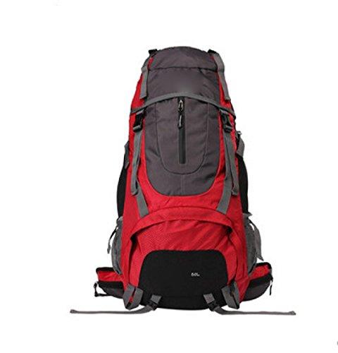 Großer Kapazitäts-Spielraum-Rucksack-Männer Und Frauen Draußen Kampierende Doppelte Schulter-Beutel,Red50L Red50L