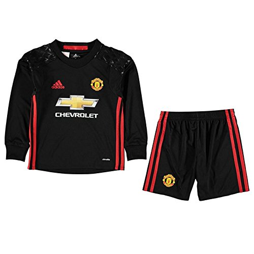 adidas Kinder Manchester United Torwart Mini-Heimausrüstung Fußballdress, Black/Real Red, 116 (United Trikot Torwart Manchester)