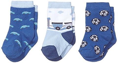 Twins Baby - Jungen Socken im 3er Pack, Gr. 19-22, Blau (blau 113)