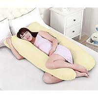 Novo 2.5Kg Pp Cotton Comfort Pregnancy & Maternity Pillow, Yellow - 145X80X25Cm,