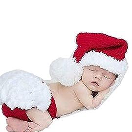 3 pezzi per bambine da 3 a 18 mesi OZYOL Costume da Babbo Natale con cappello di Natale cappotto e pantaloni