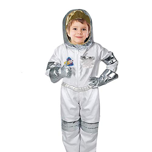 Astronaut Kostüm für Kinder mit Astronautenhelm,Kinderkostüm Astronaut Rollenspiel-Kostüm-Set für Unisex Alter 3-7 (Beste 1-jahr-alten Halloween-kostüm Jungen)