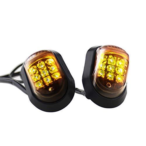 ENET - 2 indicatori di direzione universali a LED per Moto, Luce Arancione, Sinistra e Destra