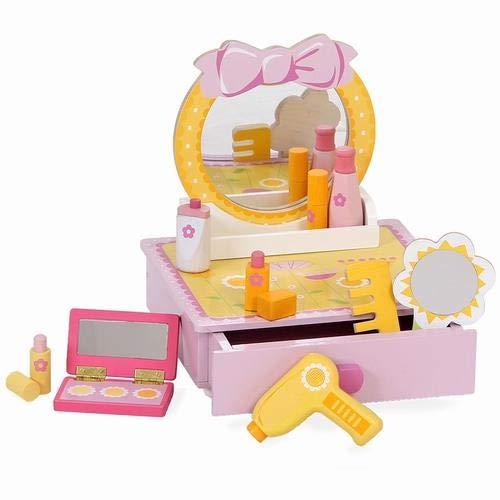Make-up-Set / Kinder Schminkspiegel / Kinder Schmink-Set / Kinder Schminktisch aus Holz