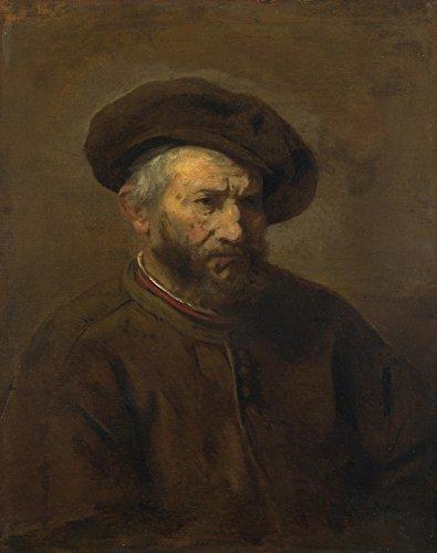 Das Museum Outlet-Imitator von Rembrandt-A Study of eine ältere Man in a Gap-Canvas Print Online kaufen (61x 81,3cm) Baby Gap Outlet