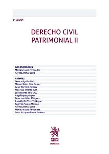 Derecho Civil Patrimonial II 2ª Edición 2016 (Manuales de Derecho Civil y Mercantil) por Leonor Aguilar Ruiz