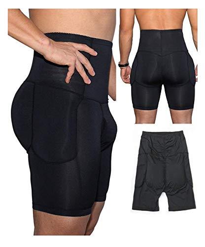 Jolie Butt Enhancer Slip Hohe Taille Push Up Atmungsaktiv Abnehmen Shapewear Bauchkontrolle Kompression Unterwäsche für Herren,B,XL -