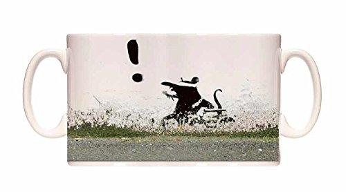 Preisvergleich Produktbild Banksy Mug Gangsta Rat Exclamation 1 Ceramic Cup Gift Box