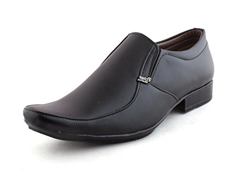 Alestino Formal Shoes For Men Leather Look Shoes FV43 (44 UK) BLACK