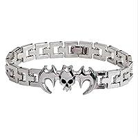 Titanium Stainless steel Batman bracelet Men Chain Link New Style Bracelets For Women Men Jewelry