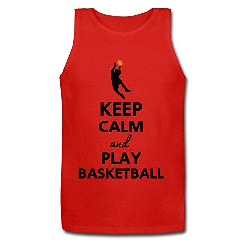 xj-cool-keep-calm-and-play-basket-da-uomo-senza-maniche-jersey-grigio-red-large