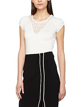 Morgan 171-Deflu N/Off White/Tl, Camiseta para Mujer, Blanco (Off White), Large (Talla del Fabricante: TL)