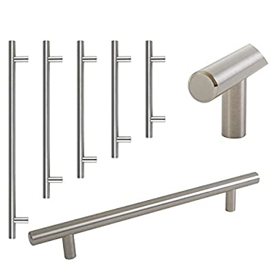 T Bar Satin Kitchen Cupboard Cabinet Drawer Door Handles 5 Sizes - low-cost UK door handle shop.