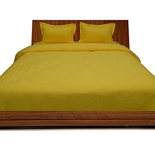 Luxuriöse Ägyptische Baumwolle mit Fadendichte 300 4pc Plansatz-&, 3-teiliges Set mit Bettdecke, Rock Single, Gelb, 300TC, 100% Baumwolle - 300tc-duvet-set